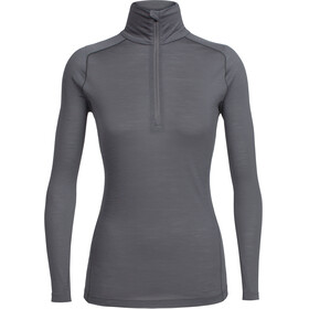 Icebreaker Zeal LS Half Zip Shirt Women metal